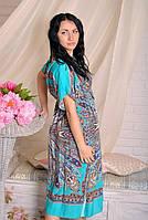 Красивое женское платье-кимоно