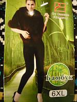 Велюровые  женские гамаши на меху Panyixin 6 XL. Бамбук.1 шов.