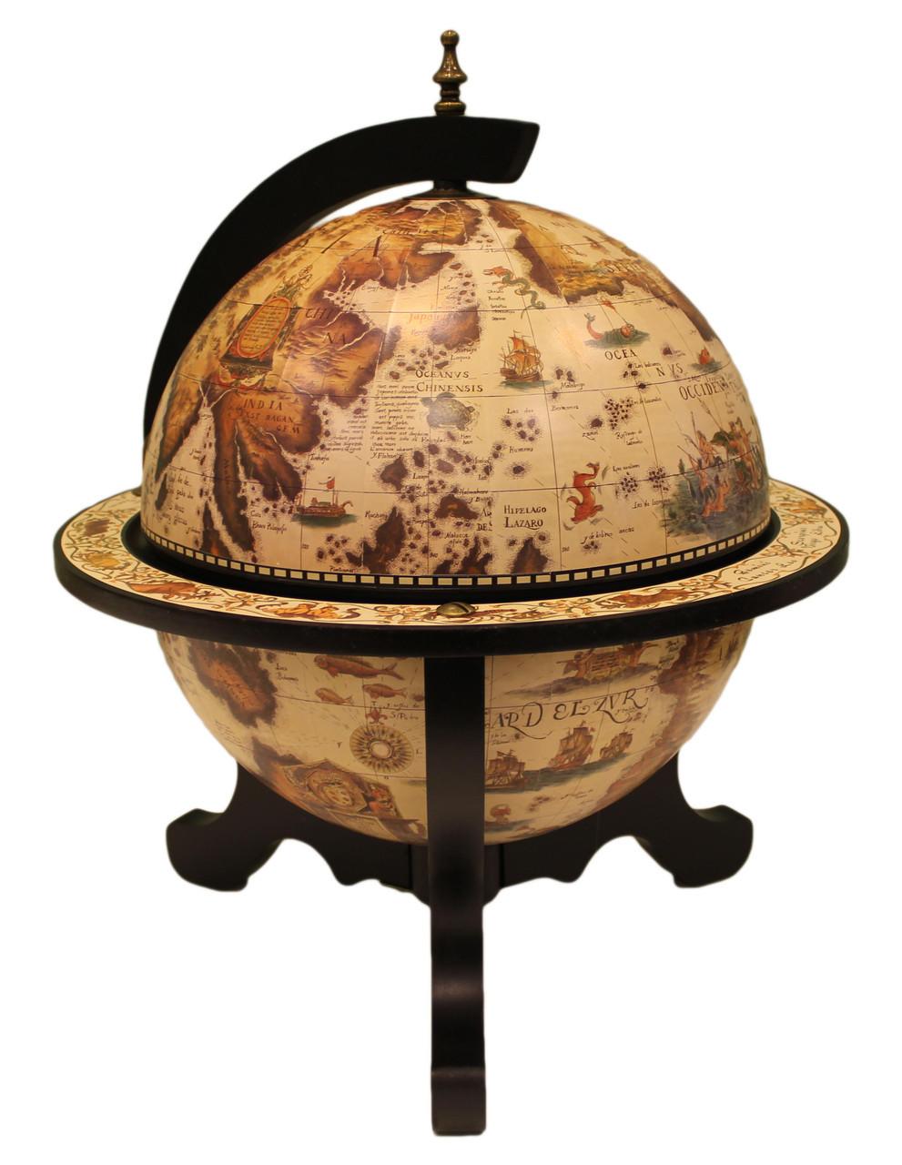 """Глобус бар настільний """"Світ на столі"""" 32*42*59 см (JG 33040 W-B)"""