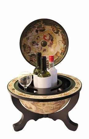 """Глобус бар настільний """"Світ на столі"""" 32*42*59 см (JG 33040 W-B), фото 2"""