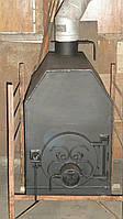 Печь большая, сталь 3 - 4 мм, отопление до 50 м2, приготовление и подогрев еды / ручная работа