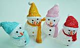 Новогодние игрушки, снеговики светящиеся, 7,5х12см, фото 2
