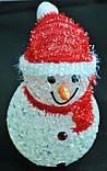 Новогодние игрушки, снеговики светящиеся, 7,5х12см, фото 3