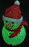 Новогодние игрушки, снеговики светящиеся, 7,5х12см, фото 4