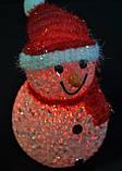 Новогодние игрушки, снеговики светящиеся, 7,5х12см, фото 5