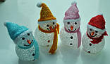 Новогодние игрушки, снеговики светящиеся, 7,5х12см, фото 6