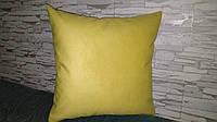 Наволочка декоративная 45х45 желтая, фото 1