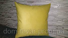Наволочка декоративная 45х45 желтая