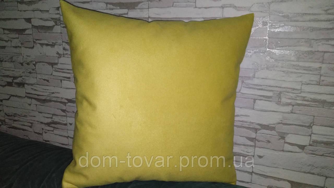 Наволочка декоративная 40х40 желтая