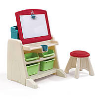 Дитячий стіл зі стільцем і дошкою для творчості Step 2 FLIP&DOODLE 66x60x48/30x31x31 см