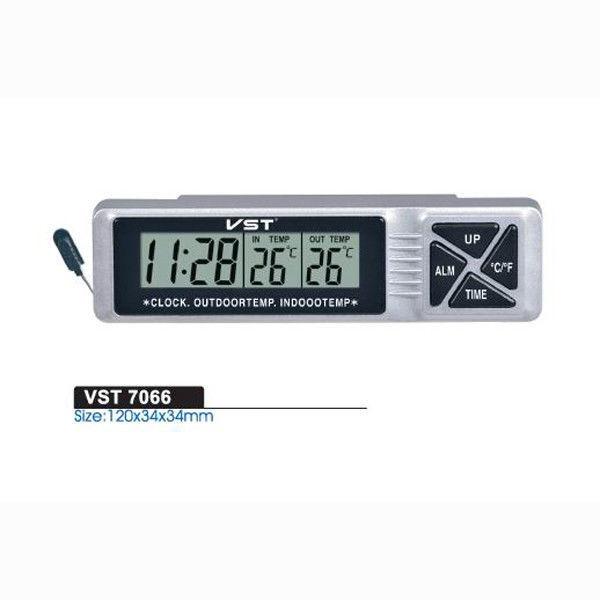 Автомобільні годинник з термометром vst-7066