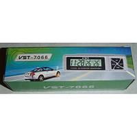 Автомобільні годинник з термометром vst-7066, фото 2