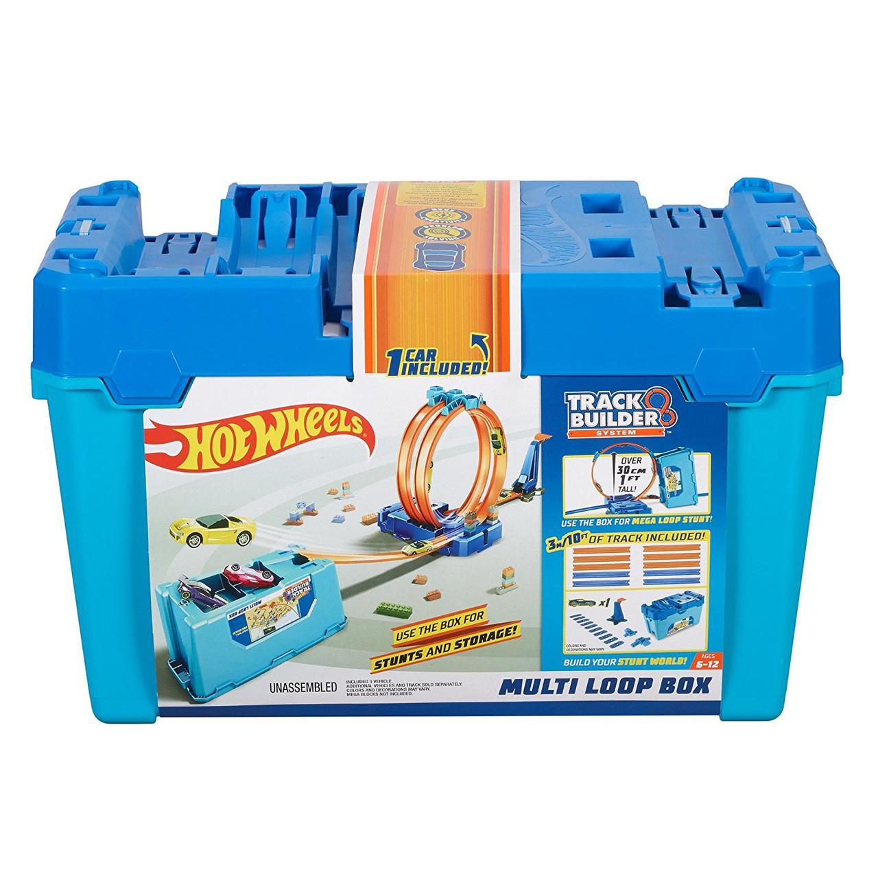 Трек Хот Вилс Коробка для трюков Конструктор Двойная петля 3 в 1 Hot Wheels Track Builder Multi Loop Box