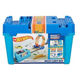 Трек Хот Вилс Коробка для трюков Конструктор Двойная петля 3 в 1 Hot Wheels Track Builder Multi Loop Box, фото 2
