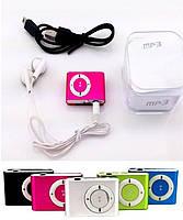 MP3 плеер + картридер microSD металлический, на клипсе, USB Мп3
