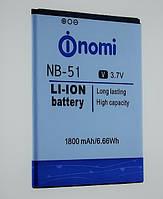 Аккумуляторная батарея nomi i500 sprint