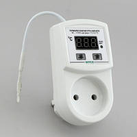 Терморегулятор для обогревателя конвектора цифровой (-40°...+110°, реле 15А) РТУ-15/П-NTC-К