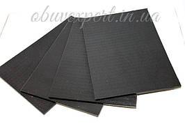 Полиуретан обувной  260х180х6 черный , рифленый