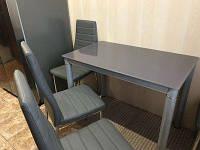 Кухонный стол GALANT 100х60 см серый