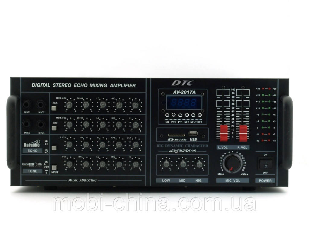 Рэковый усилитель звука DTC AV-2017A 600W