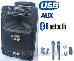 Акустика портативная A12-8 с радиомикрофонами 150W (FM/USB/Bluetooth)