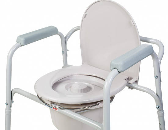 Стул туалетный со спинкой - 11356, Doctor Life, фото 2