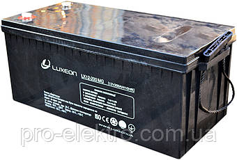 Аккумуляторная батарея LUXEON LX 12-200MG, фото 2