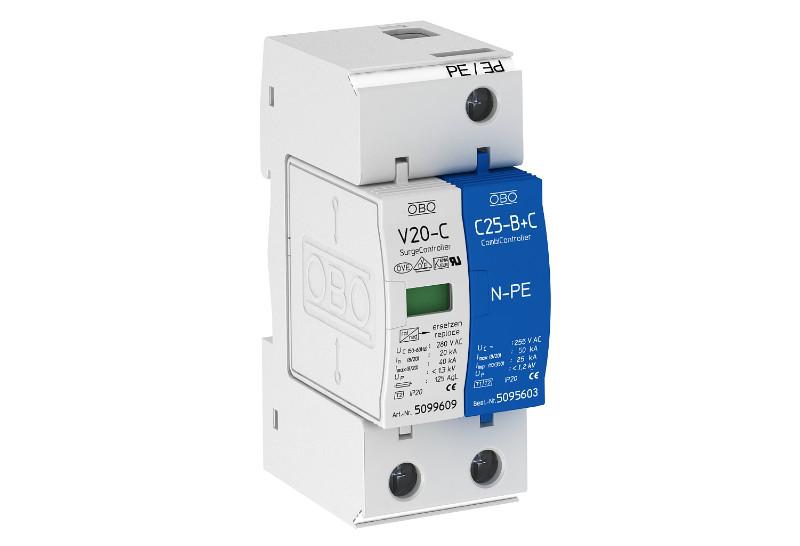 5094650 Разрядник для защиты от перенапряжений 1-полюс.+NPE (УЗИП), V20-C 1+NPE-280 OBO Bettermann (Германия)