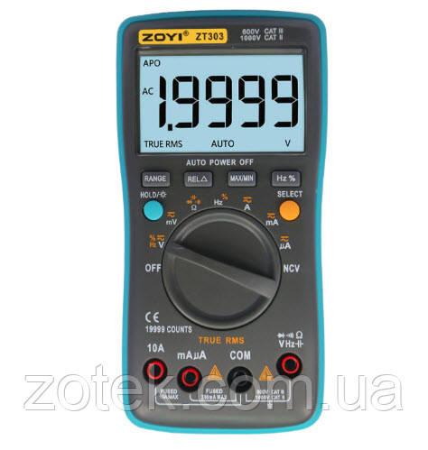 Мультиметр ZOYI ZT303 NCV 19999 отсчётов True RMS тестер (RM303) ZOTEK