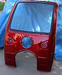 Кабина  мотоцикла трехколесного, грузового Зубр, Мустанг, Фотон 150-200 красная и синяя., фото 2