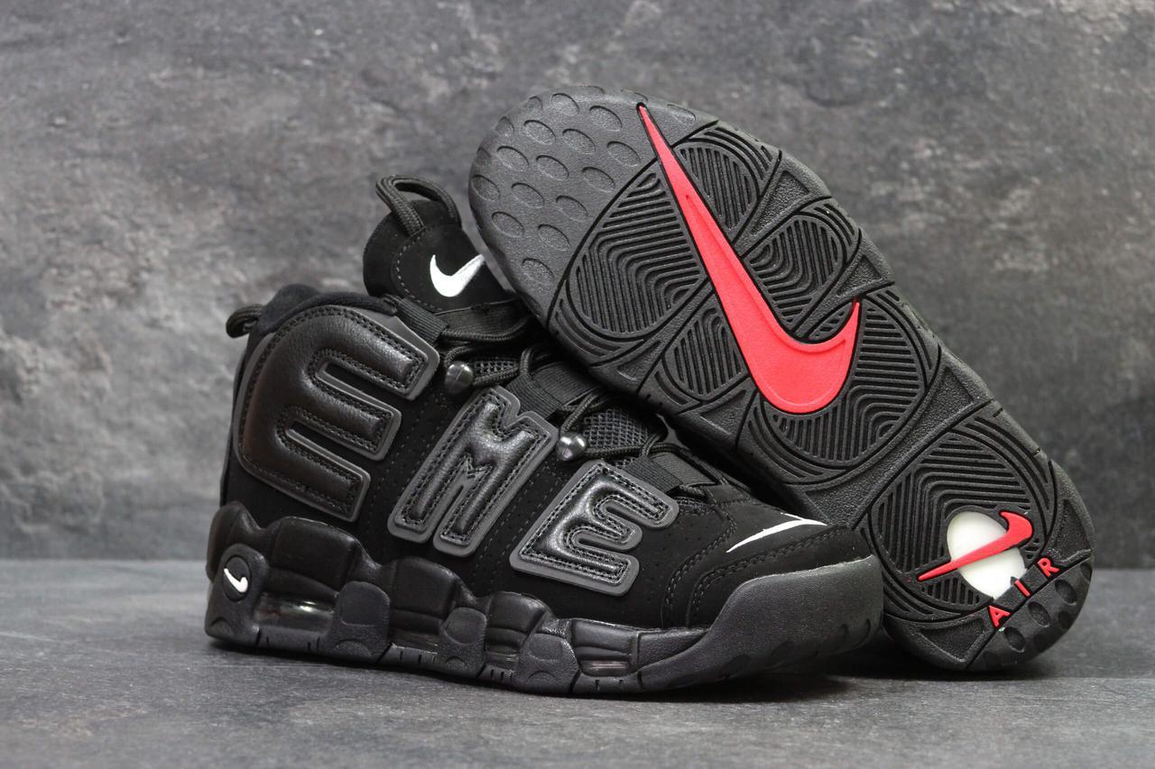 Кроссовки Nike Air More Uptempo 96 Black Suede