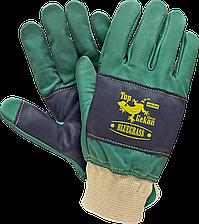 Перчатки BLUEGRASS ZG рабочие кожаные REIS Польша (кожаные рабочие перчатки)