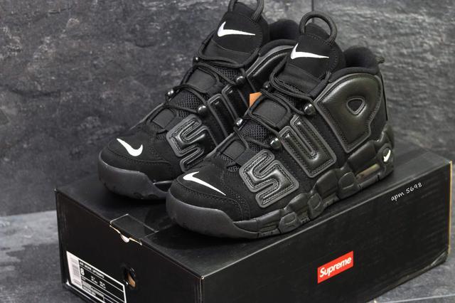 Nike Air More Uptempo 96 Black Suede