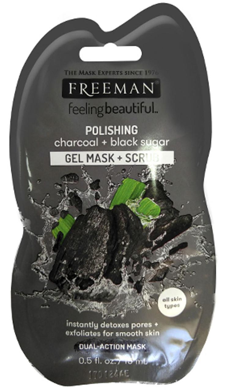 """Маска для лица полирующая """"Уголь и Черный сахар"""" Freeman Feeling Beautiful Mask"""