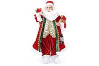 Новогодняя игрушка Санта 61см цвет - красный, пластик+ткань, 1шт. (NY14-370)