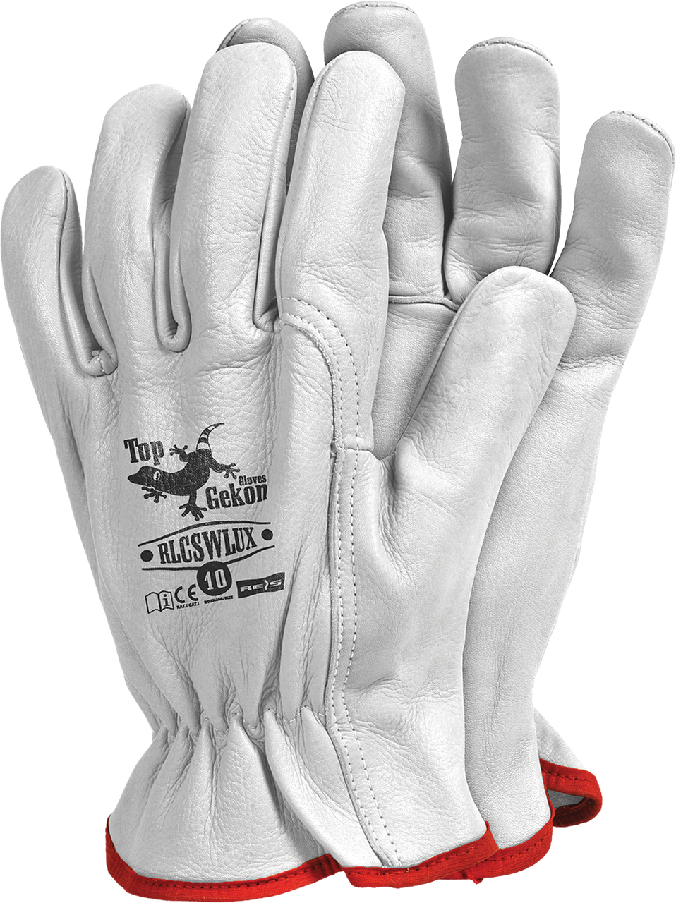 Перчатки  RLCSWLUX W кожаные рабочие REIS (RAW-POL) Польша