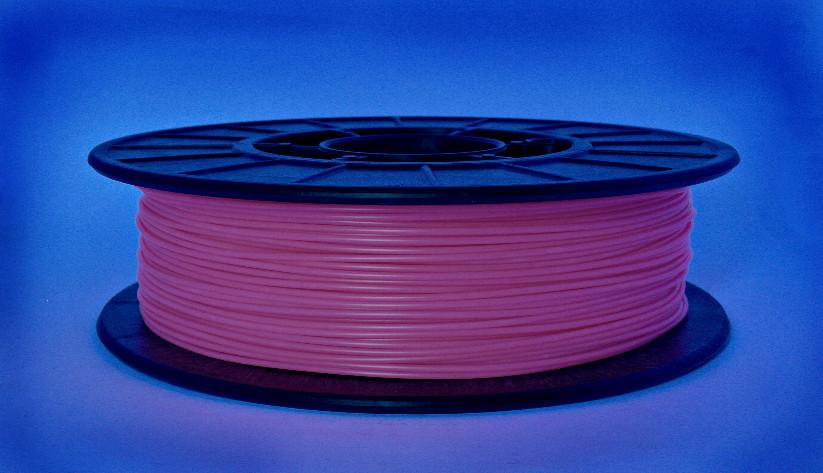 Нитка ABS-X (АБС-X) пластик для 3D принтера, Рожевий флюр, світловідбиваючий (1.75 мм/0.5 кг)