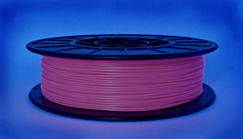 Нитка ABS-X (АБС-X) пластик для 3D принтера, Рожевий флюр, світловідбиваючий (1.75 мм/0.5 кг), фото 2