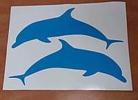 Изготовление наклеек, печать наклеек, наклейка дельфин
