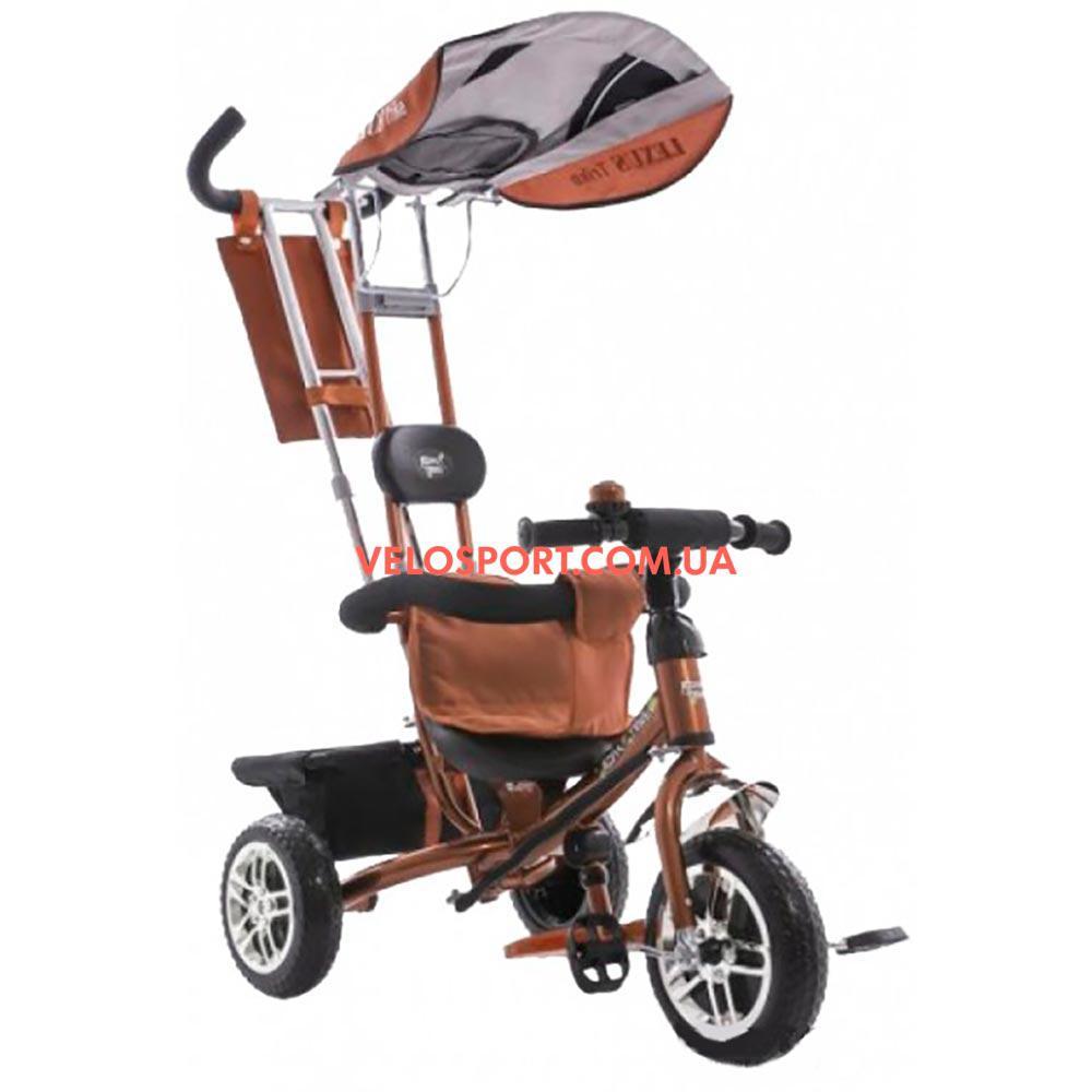 Детский трехколесный велосипед Azimut Trike BC-15B коричневый