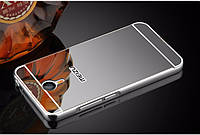 Зеркальный Чехол/Бампер для Meizu M5 Note Серый (Металлический), фото 1