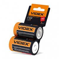 Батарейка D 1.5V R2OP солевая Videx 2pcs shrink card 2 шт/уп