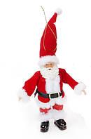 Новогодняя декоративная фигурка-подвеска Санта 17.5см в дисплей-коробке цвет - красный (NY14-374)
