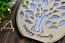 """Деревянный светильник, ночник """"Семейной дерево"""" - декор для дома, фото 2"""