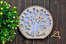 """Деревянный светильник, ночник """"Семейной дерево"""" - декор для дома, фото 3"""