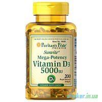 Витамины Puritan's Pride Vitamin D3 125 mcg (250 капс) пуританс прайд витамин д3