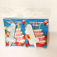 Свечи в торт цифра 1