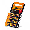 Батарейка AAA 1.5V R03P солевая Videx 4pcs shrink card 4 шт/уп