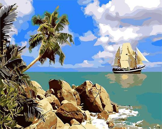AS0262 Набор-раскраска по номерам Пиратский остров, фото 2