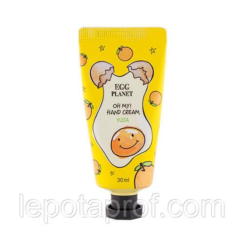Крем для рук с ароматом цитрусовых  DAENG GI MEO RI Egg Planet Hand Cream Yuja, 30 ml